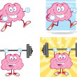 Brain Cartoon Mascot Collection 14 — Stock Photo #28926003