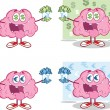 Stock Photo: Brain Cartoon Mascot Collection 16