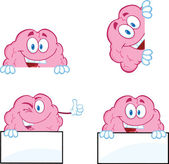 Brain Cartoon Mascot Collection 9 — Stock Photo