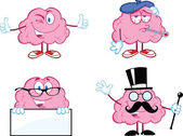 Brain Cartoon Mascot Collection 7 — Stock Photo