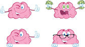 Brain Cartoon Mascot Collection 8 — Stock Photo