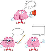 Brain Cartoon Mascot Collection 11 — Stock Photo