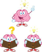 Brain Cartoon Mascot Collection 10 — Stock Photo