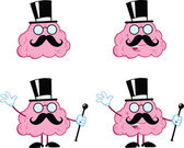 Brain Cartoon Mascot Collection 15 — Stock Photo