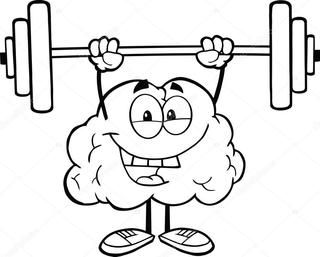 Cerebro contorn... Kids Exercise Clip Art Black And White