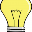 Stock Photo: Cartoon Light Bulb