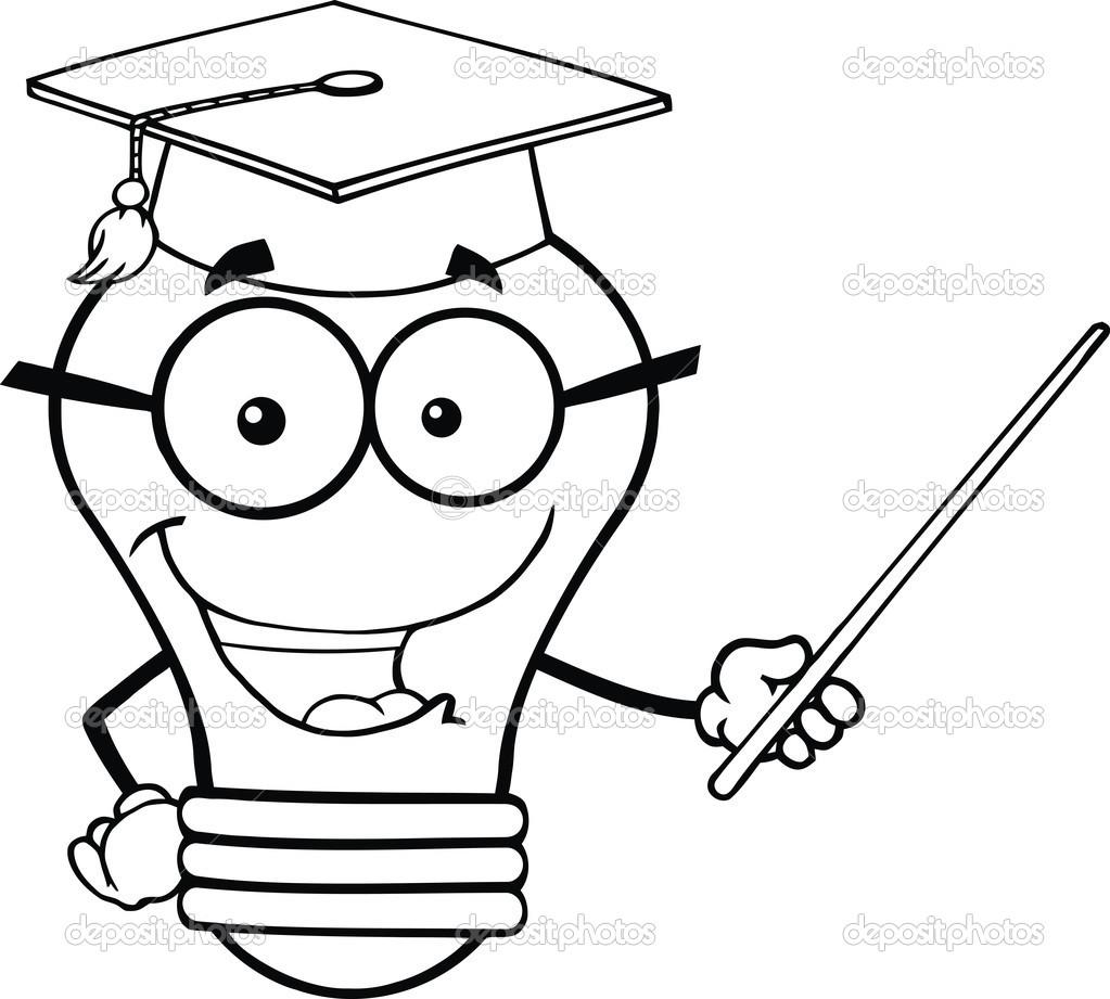 d u00e9crit le personnage de professeur ampoule souriant avec un pointeur photographie hittoon Calendar Clip Art for Teachers Calendar Clip Art for Teachers