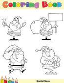 Coloring Book Page Santa Claus Character — Stock Photo