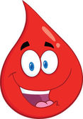 Smiling Red Blood Drop Character — Stock Photo