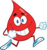 Röd blod droppa karaktär kör — Stockfoto