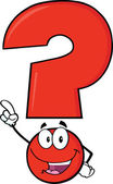 Happy Red Question Mark — Stock Photo