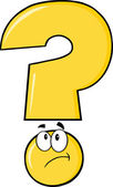 Yellow Question Mark Thinking — Stock Photo