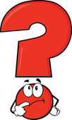 Red Question Mark Thinking — Stock Photo