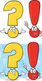 Question Mark And Exclamation Mark Characters. Set Collection — Stock Photo