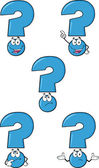 Blue Question Mark Set Collection — Stock Photo