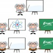Scientist Or Professor Cartoon Characters  Set Collection 2 — Stock Photo