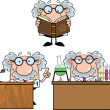 Scientist Or Professor Cartoon Characters  Set Collection 6 — Stock Photo