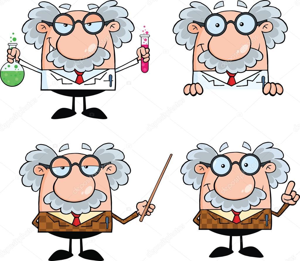 Personaggi dei cartoni animati di scienziato o professore