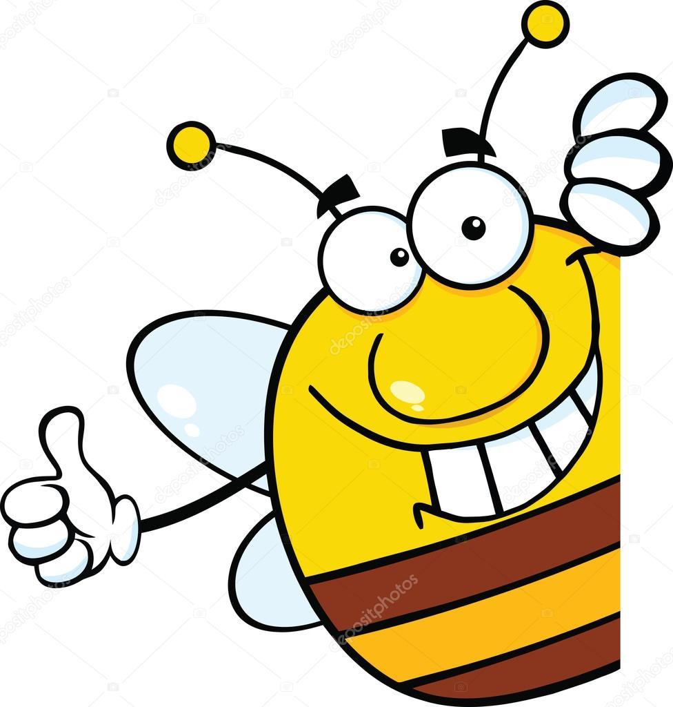 Depositphotos Stock Photo Pudgy Bee Cartoon Character Giving Maskot