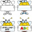 Bee Cartoon Characters Set Collection 4 — Stock Photo #30513537