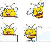 蜂の漫画のキャラクター セットのコレクション 7 — ストック写真