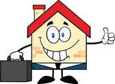 Smiling House Businessman — Stock Photo