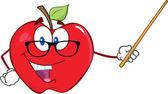 Enseignant d'Apple avec un pointeur — Photo