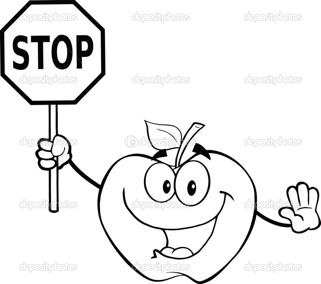 stop sign coloring pages - photo#27