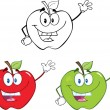 Apples Cartoon Characters  Set Collection 1 — Stock Photo