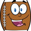 American Football Ball Cartoon Character — Stock Photo