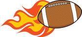 Flaming American Football Ball Illustration — Stock Photo