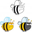 Cute Bee Cartoon Characters. Set Collection 2 — Stock Photo #31061359