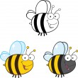 Cute Bee Cartoon Characters. Set Collection 1 — Stock Photo #31061819