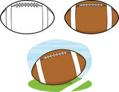 American Football Balls. Collection Set 1 — Stock Photo