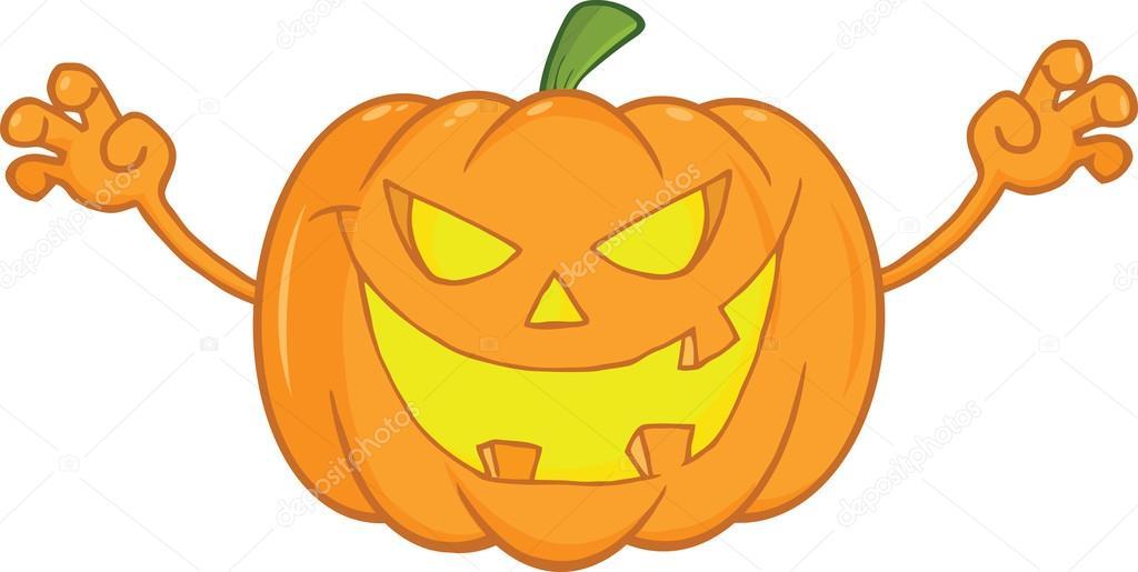assustando a ilustra u00e7 u00e3o dos desenhos animados de ab u00f3bora funny pumpkin clip art black and white Cute Halloween Clip Art