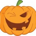Scary Halloween Pumpkin Winking — Stock Photo #31544807