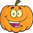 Stock Photo: Halloween Pumpkin Cartoon Mascot Illustration