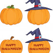 Pumpkins Cartoon illustrations Collection Set  — Stock Photo