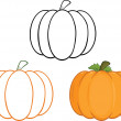 Pumpkins Cartoon Illustrations. Collection  — Stock Photo