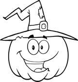 Outlined Halloween Pumpkin — Stock Photo