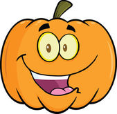 Halloween Pumpkin Cartoon Mascot Illustration — Stock Photo