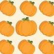 Orange Pumpkins Background Seamless Pattern — Stock Photo #31733529