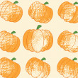 Pumpkin Background Seamless Pattern Grunge — Stock Photo