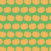 Pumpkin Background Seamless Pattern In Green — Stock Photo