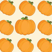 Orange Pumpkins Background Seamless Pattern — Stock Photo