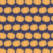 Pumpkin Background Seamless Pattern In Purple — Foto Stock