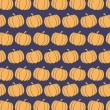 Pumpkin Background Seamless Pattern In Purple — Stok fotoğraf