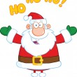 Santa Claus Cartoon Character With Open Arms For Hugging — Stock Photo #31922885