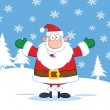 Santa Claus Cartoon Character With Open Arms — Stock Photo #31924551