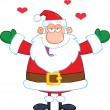 Santa Claus With Open Arms Wanting A Hug — Stock Photo #32068399
